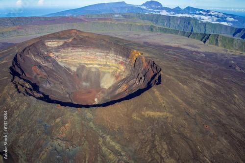 Foto op Canvas Vulkaan Piton de la Fournaise, La Réunion
