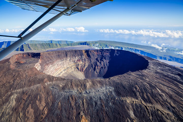Scenic flight at Piton de la Fournaise, La Réunion