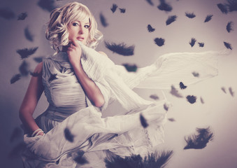 Marilyn Monroe 08_2/ black feathers