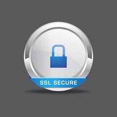 SSL Secure Vector Icon Button