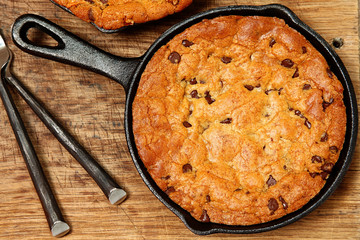 Gluten Free Chocolate Chip Skillet Cookie