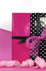 Modern theme Valentine or birthday pink black gift