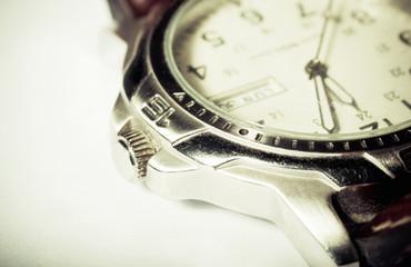 Retro wristwatch detail