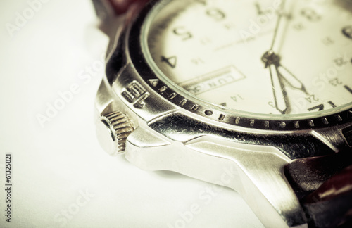 Retro wristwatch detail