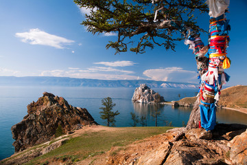 Landscape at the Baikal lake in Siberia