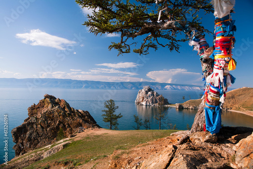 Landscape at the Baikal lake in Siberia - 61326094