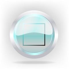 3d stop cristal icon