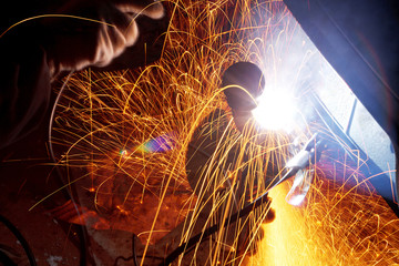 sparks during welding car