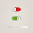 Power slider buttons