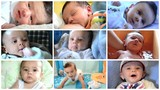 cute little baby boy collage
