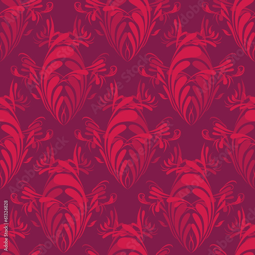 Vintage Pattern With Abstract Shapes