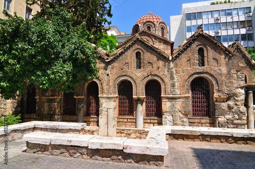 Staande foto Athene The Byzantine Church of Panaghia Kapnikarea