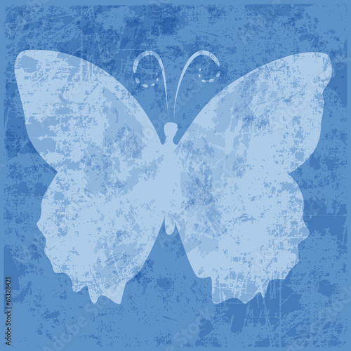 background,butterfly,blue,grunge,vector,shilhouette