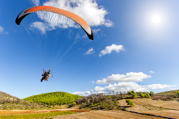 paraglider on a beautiful landscape