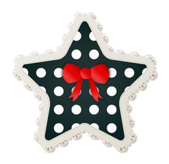 Star Polka Dot Patch
