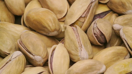 a pile of pistachios rotating smoothly and slowly