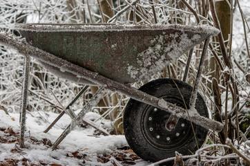 carriola con neve