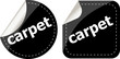 carpet word stickers set, web icon button