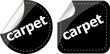 carpet word stickers set, web icon button