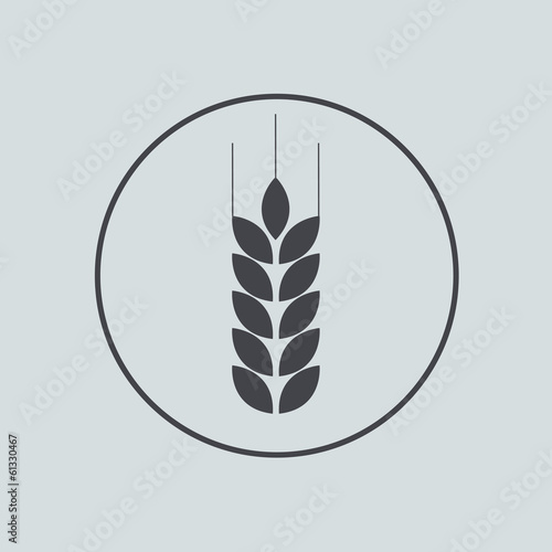 Vector circle icon on gray background. Eps 10