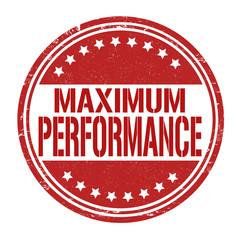 Maximum performance stamp