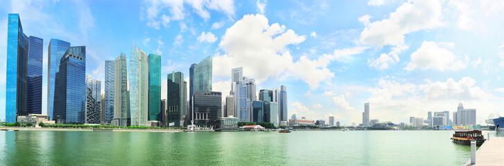 Panoramic view on Singapore city center