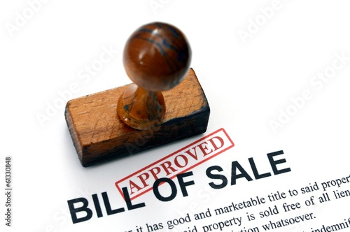 Bill of sale - approved