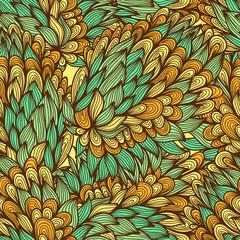Seamless floral vintage summer bright doodle pattern