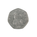 British fifty pence coin reverse