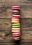 Fototapeta traditional french colorful macarons