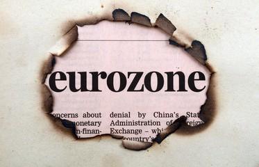 Eurozone on paper hole