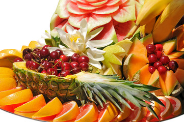 Assortment of exotic fruits