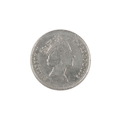 British ten pence coin obverse