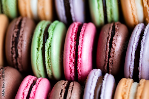 Fotobehang Meest verkochte foto's traditional french colorful macarons