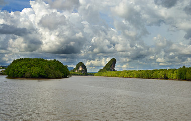 Dramatic cloudscape at Krabi Rocks