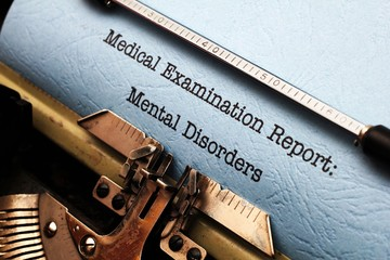 Mental disorder report