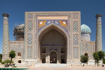 View of Sher-Dor Madrasa, Samarkand