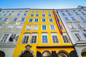 Birthplace of Mozart in Salzburg, Austria
