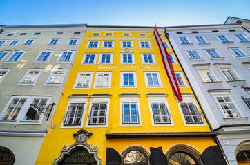 Birthplace of Mozart in Salzburg, Austria