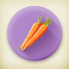 Carrots, long shadow vector icon