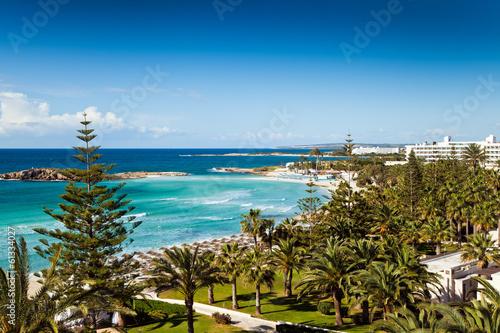 Foto op Plexiglas Cyprus Hotel beach in Cyprus