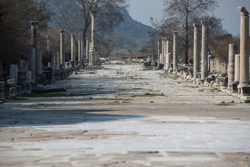 columns street ruins of the ancient Ephesus