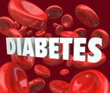 Diabetes Word Blood Cells Disorder Disease poster