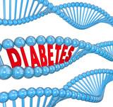Diabetes Word DNA Strand Hereditary Blood Disease Biology poster