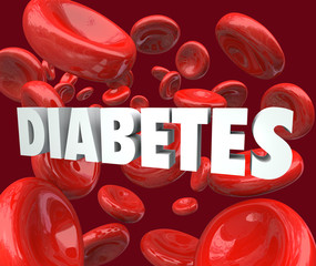 Diabetes Word Blood Cells Disorder Disease