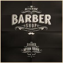 Vintage Salon de coiffure Insignes