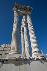 old ruins temple of Akropolis Pergamon