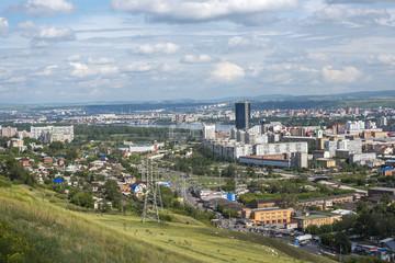 Krasnoyarsk city landscape