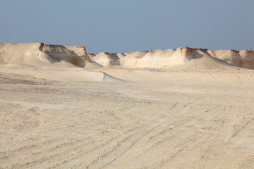 Desert landscape in Qatar, Middle East