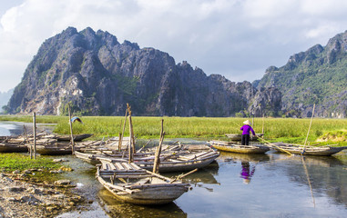 Van Long - The famous eco-tourism of Ninh Binh,Vietnam